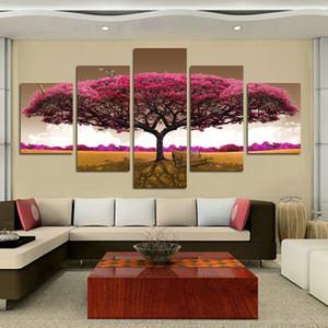 مؤطر 5 لوحة الشجرة الكبيرة فراشة الصرفة من ناحية رسم فن زيت صورة زيتية المنزل الجدار الديكور على قماش ذات جودة عالية موليت الأحجام المتوفرة