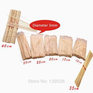 1500 Adet Yeni Tek Kullanımlık 15 ~ 40 cm Bambu Ahşap BARBEKÜ Partisi Şiş Doğal Bambu sticks Et Gıda Barbekü Aksesuarları S ...