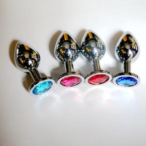 Tamanho médio 3.4 * 8 cm de Aço Inoxidável Atraente Butt Plug Jóias / Rosebud Jeweled Anal Plugues brinquedos sexuais buttplug alta qualidade