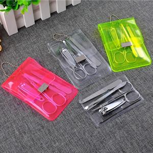 Haute Qualité 50 pcs En Acier Inoxydable Nail Care Set Pédicure Ciseaux Tweezer Couteau Ear Pick Utility Nail Clipper Kit Manucure Ensemble