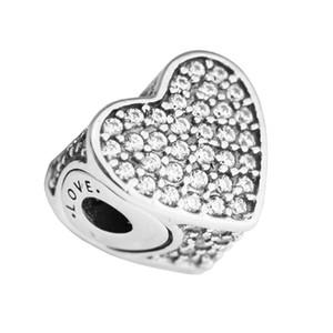 Pandulaso Essence Love Charms Fits Pandora Essence Bracciale gioielli in argento sterling che creano ciondoli per donna perline fai da te foro da 2,5 mm
