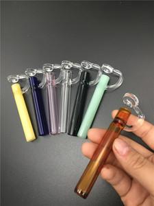 Venta al por mayor Labs vidrio de mano Tubos pipa de tabaco para fumar Hierba que fuma l vidrio CONCENTRATE TASTERS OIL WAX smoking labs PIPES