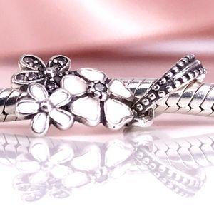 Flores Poetic de alta Qualidade, Esmaltes Misturados Limpar CZ Charme Fit DIY Pandora Pulseira Authentic 925 Sterling Silver 791824ENMX