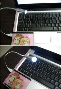 100pcs lot 1LED 1 LED Flexible Portable USB Light Lamp For Laptop Notebook PC Free Shipping By DHL or FEDEX 0001