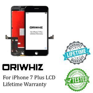 Oriwhiz blackwhite شاشة lcd لتفاح iphone 7 زائد 7 زائد lcd touch screen الجمعية محول الأرقام لا الميت بكسل أعلى جودة الشحن dhl