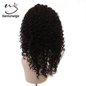 Parrucca piena del merletto dei capelli umani ricci crespi di colore naturale all'ingrosso della Cina da 12 pollici, parrucca di capelli brasiliani anteriori del merletto delle donne, parrucche quotidiane dei capelli umani