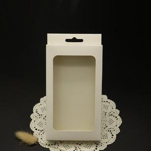 50 pçs / lote caso de telefone celular oem pacote de varejo em branco embalagens plásticas caixa de papel embalagem para universal smartphone case com bandeja