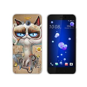 "TPU Cute Cartoon souple Housse Pour 5.5"" HTC U11 Smartphone"