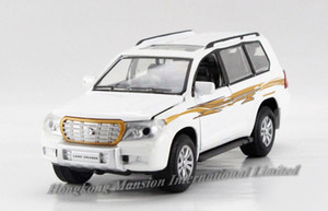 1:32 Escala de aleación Diecast Metal Modelo de auto SUV para TOYOTA LAND CRUISER Colección Pull Back Toys Car With SoundLight-White / Black / Army Green