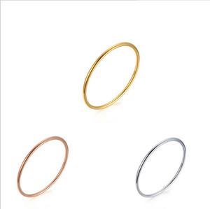 Basit Stil Bileklik Moda Takı Toptan Erkek Kadın Trendy Gül Altın Kaplama / Gümüş Kaplama / Altın Kaplama Paslanmaz Çelik Yuvarlak Bilezikler