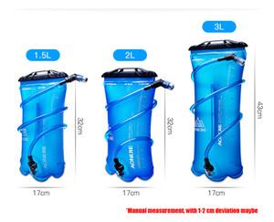 Aonijie tpu saco de água das mulheres dos homens ao ar livre esporte hidratação da bexiga montando corrida camping folding suporte de água 1.5l / 2l / 3l