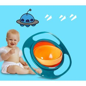 Nuevo Universal Gyro Kids Bowl 360 Degree Giratorio Equilibrio Gyro Bowl Baby Kids Non Spill Feeding Toddler
