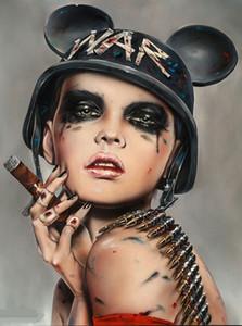 Emoldurado Fumar Sexy Girl, JOGAR SUJO, Pure Hand Painted Decoração Da Parede Brian Modern figura Art Pintura A Óleo de Alta Qualidade Canvas.Multi tamanhos P0036