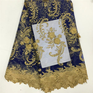 African Tulle Lace Fabric French Lace Fabric High Quality With Stones Nigerian Embroidery Tulle French Lace PL699954540559