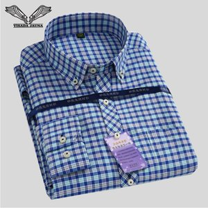Wholesale- Men's Classical Plaid Shirt 2017 Spring New  Turn-down Collar Slim Fit Business Men Dress Shirts Big Size S-4XL N544