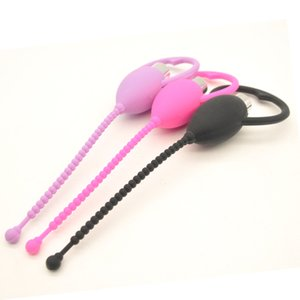 FREE SHIPING ! Beads Vibrating Urethral Sound Silicone Sex Toys For Men Penis Plug Sounding Male Chastity Device Sex Products