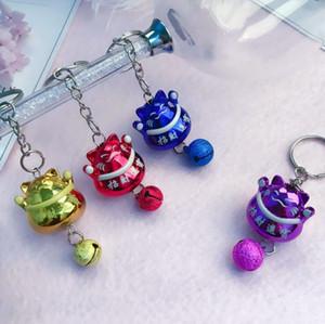 Key Chain Case telefono bello Lucky Cat Bells auto sacchetto mobile di nuovo arrivo ciondolo accessori KR200 Portachiavi ordine della miscela 20 parti mólto
