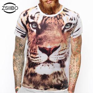 Atacado- ZSIIBO TX90 TX91 novo design Moda Animal Criativa Cool T-Shirt Dedo / Flash / Corvo / Macaco 3D Impresso Verão T-shirt de manga curta