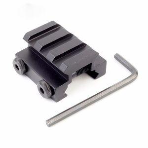 Tactical 3Slot 20mm Weaver Picatinny Rail Rifle Scope Sight Riser Monti Caccia Gun Torcia Montaggio a Base Accessori