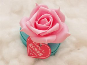 Favores de la boda Cajas de regalos Contenedores de lata de caramelo Regalos de dulces de la boda Cajita de regalo de la forma del corazón del chocolate para cajas de dulces del banquete de boda