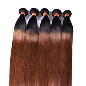 PASSION Ombre Hair Products 1B 30 Brazilian Remy Human Hair Wefts 3 Bundles Two Tone Color Malaysian Peruvian Straight Human Hair Extensions