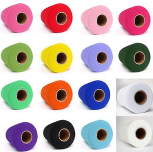"Tulle Roll Spool 6 ""x100yd Wedding Netting Sheer Decor Banner Garland Tassel Chair Bow Sash Fai da te Tutu Gonna regalo in tessuto Craft Wrap favori"
