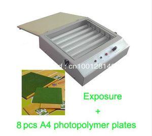 FAST FREE livraison hotte qualité UV Exposition Unit pour Hot Foil Pad PCB d'impression + 8 plaques A4 photopolymère