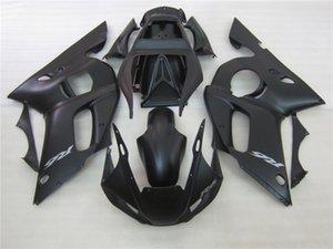 fairings جزء موتو انخفاض الأسعار لياماها YZF R6 98 99 00 01 02 ماتي الأسود fairing kit YZFR6 1998-2002 OT45