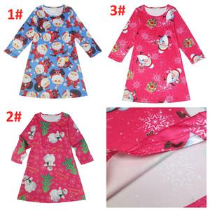 3 cores das meninas de natal papai noel pinguim impresso pulôver queimado a line dress cosplay manga longa top t-shirt clothing
