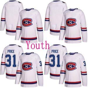 젊음 2018 Centennial 고전 몬트리올 Canadiens 저어지 6 시어 웨버 31 Carey Price 76 P.K. Subban 92 조나단 드루 인 (Jonathan Drouin Custom Hockey Jerseys)