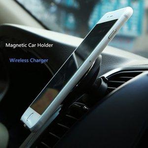 Porte-chargeur de voiture magnétique rotatif 360 chargeur de chargeur Qi sans fil pour Galaxy S8 Plus S6, G9200 / S6 Edge / Note5 / S7 / S7 Edge