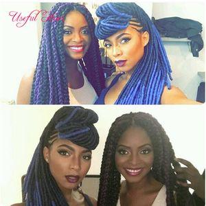 pre loop straight ombre burgundy soft dreadlocks Faux locks SYNTHETIC braiding hair crochet braidS HAIR MARLEY TWIST 100g hair extensions