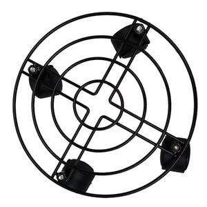 2 piezas de metal y plástico fuerte cuadrados desprendibles Tiesto Soporte con la rueda omnidireccional Para Herramientas Inicio Sala de estar Balcón decorativos