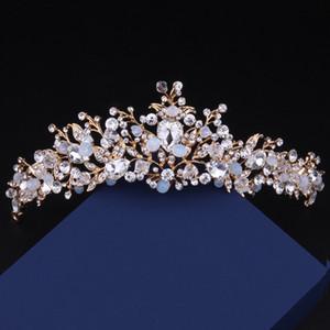 New Barroco Rainha Colorido Coroa De Noiva Frete Grátis de Alta Qualidade de Casamento De Cristal Festa de Formatura Tiara Acessórios Para o Cabelo Justo Maiden Headpieces