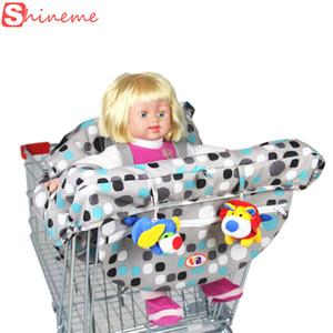 Gros-marque 2 couleurs cinq points harnais qualité sécurité pliage supermarché bébé enfant panier couverture pour bébé