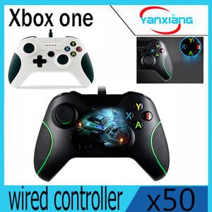 50pcs haute qualité blanc couleur Gamepad Joystick + câble pour Windows Xbox One USB contrôleur filaire YX-OEN-03