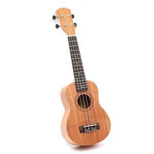 Wholesale-21 pulgadas 15 trastes Mahogany Soprano Ukulele guitarra Uke Sapele Rosewood 4 cuerdas guitarra hawaiana para principiantes o jugadores básicos