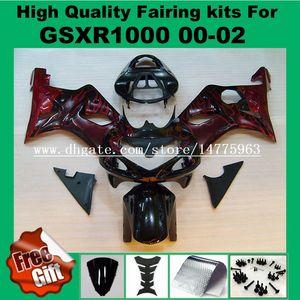 9Gifts Kit fairing fairing for GSXR1000 2000 2001 2002