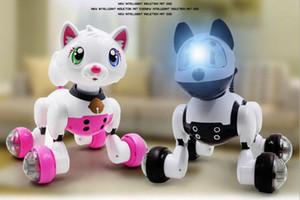 Youdi Voice Control Dog Cat Smart Robot Electronic Dog Cat Voice Control Pet Program Dance Walk Intelligent Pets MG010 Voice Control Pet Toy