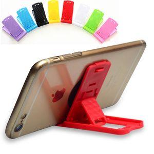 새로운 휴대용 Foldable 테이블 미니 플라스틱 휴대 전화 스탠드 홀더 접는 조절할 수있는 전화 브래킷 지원 아이폰 삼성 ipad 유니버설