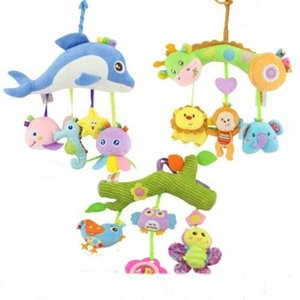 New Baby Infant Pram Stroller Bed Hanging Bell Plush Animal Rattles Educational Toys Sea farm forest animals