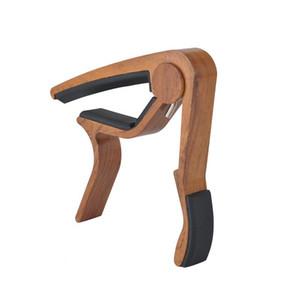 Kostenlose Holzmaserung Gitarre Capo Perfekt für Akustische Gitarre Ukulele Banjo Mit Aluminium Material - Rose Holz