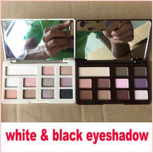 Sombra de olho de chocolate preto branco Paleta de sombra de olho de chocolate preto e branco 11 cor matte marca de sombra de olho maquiagem cosméticos
