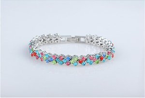 Rome Bracelet Fashion zircon crystal jewelry for women best gift alloy charm bracelets 5 colors can mix order BN-00180