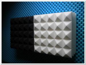 جديد وصول أبيض اللون الهرم الصوتية رغوة 50x50x8 سنتيمتر الصوتية استوديو عازل للصوت رغوة امتصاص الصوت رغوة لوحات الحائط ل غرف الموسيقى