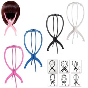 15 adet / grup peruk ekran standı Taşınabilir Katlanır Plastik Istikrarlı Dayanıklı Peruk Saç Şapka Cap Tutucu peruk Ekran Standı ...