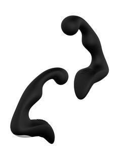 Siyah Renk Erkek Silikon Prostat Masaj Vibratör Anal Plug mastürbasyon Q084
