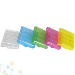 14500 10440 Sert Plastik Şeffaf Pil Saklama Kutuları AA AAA Piller Için Şarj Edilebilir Piller Tutucu Kutusu Kasa DHL Ücretsiz