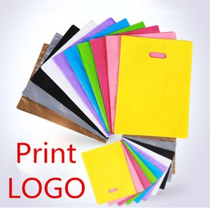 Freeship DHL  Fedex Customize Logo 30*40cm Plastic Shopping Bags Print Brand Label LOGO Jewelry Makeup Shoe Clothes packaging Gift Pouches
