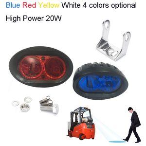 2 stücke 20 watt led arbeitslicht für gabelstapler licht, lager sicherheitswarnlampe 20 watt gabelstapler led bule punktlicht